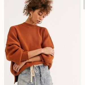 Free people oversized chunky knit sweater